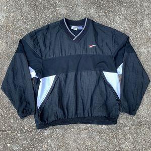 Vintage Reebok Black pullover xl